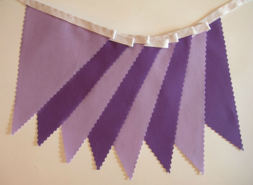 BUNTING Plain Purple and Lilac - 3m, 5m or 10m